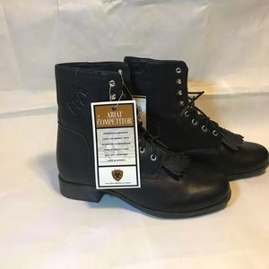 Women's Ariat Competitor II Black Lace Up Boots,